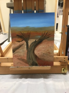 Cedar tree up on Dead Horse