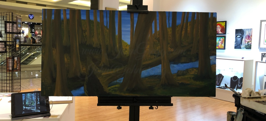 """24"""" x 48"""" canvas board oil painting by John Gregg"""