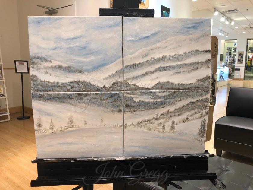 Multi canvas oil painting