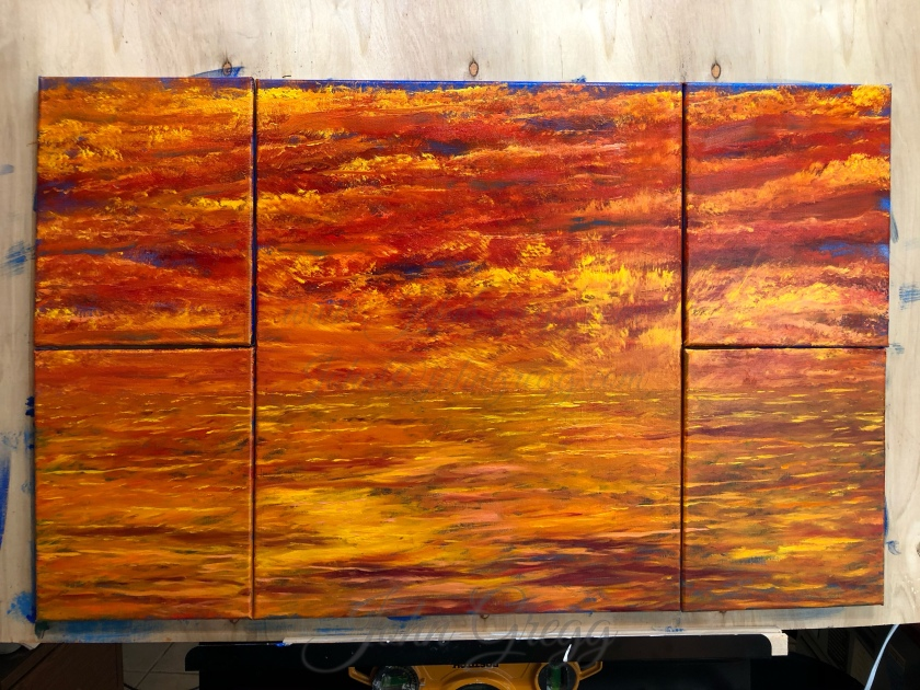 Multi canvas oil painting by John Gregg